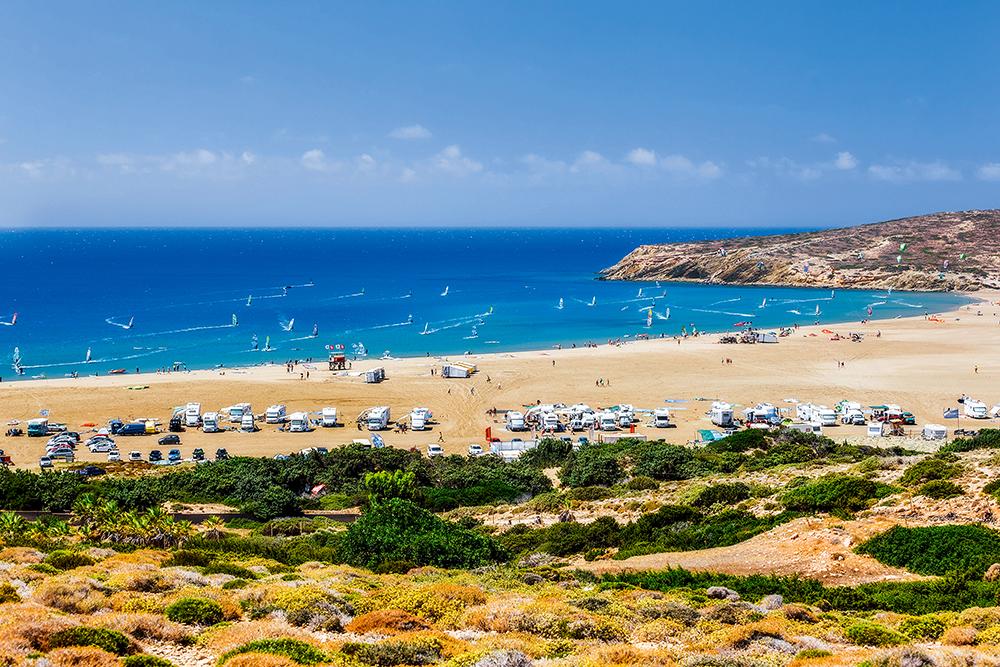 Rodos. Windsurfing na wyspach greckich