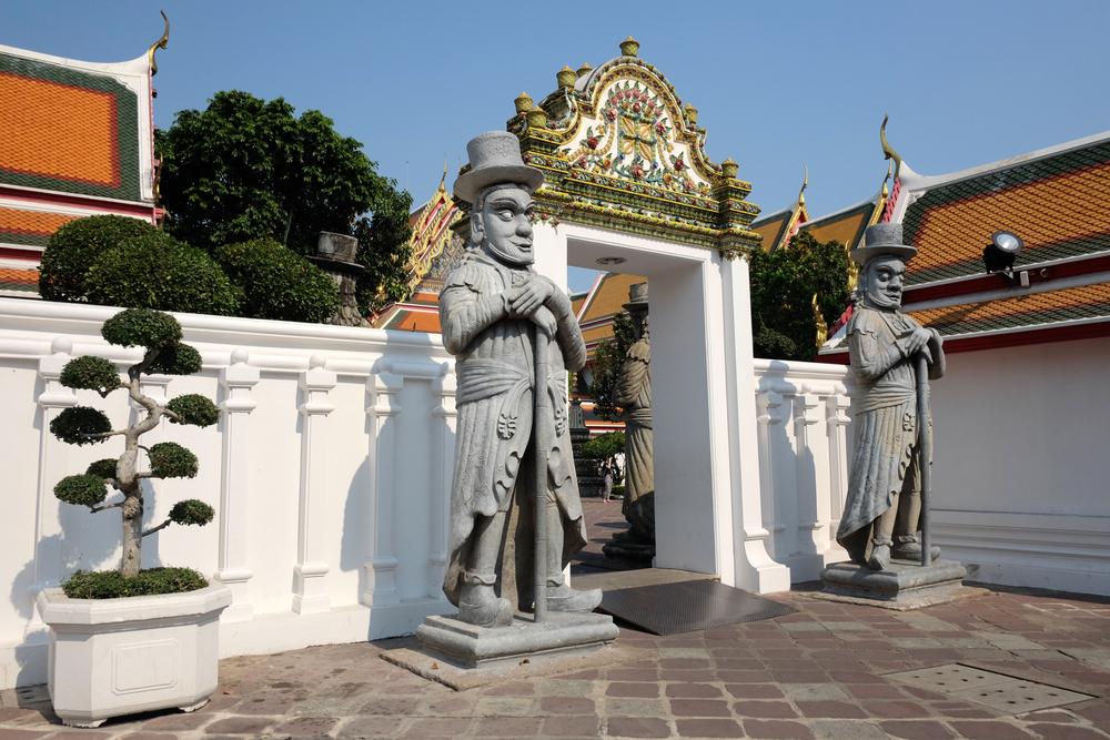 Rzeźby Marco Polo w Wat Pho